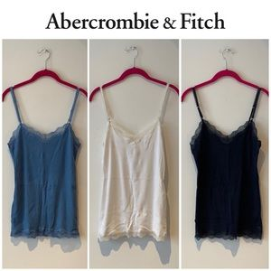 Abercrombie & Fitch 3 lace trim tank tops Large